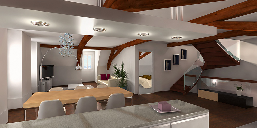 HD wallpapers maison interieur 3d
