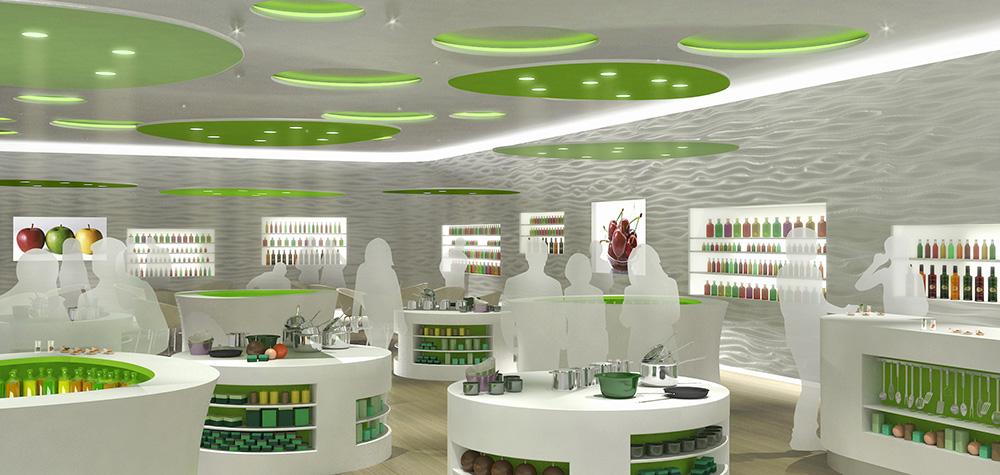 Concept d'aménagement de magasin