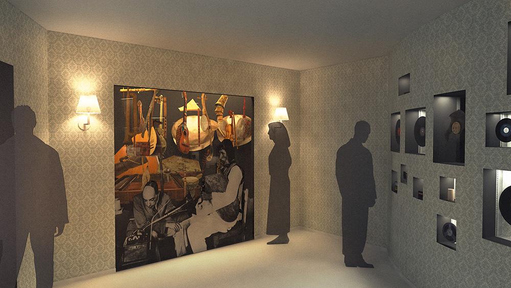 Scénographie 3D de l'exposition « L'air du temps », du Musée d'ethnographie de Genève